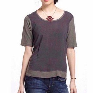 Anthropologie Brown Two Tone XS Left of Center